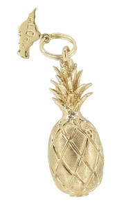 Aloha Pineapple Charm in 14 Karat Gold - Item C386 - Image 1