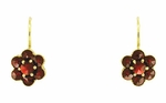 Small Bohemian Garnet Victorian Drop Earrings in 14 Karat Gold and Sterling Silver Vermeil