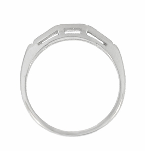 """Three Stone"" Baguette Diamond Wedding Band in 14 Karat White Gold - Click to enlarge"