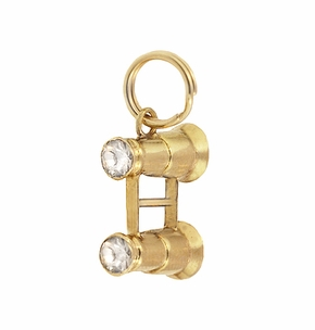 Binocular Vintage Charm in 14 Karat Yellow Gold - Item C666 - Image 1