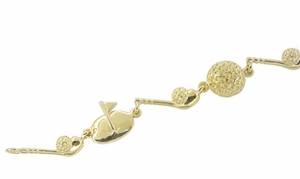 Golf Bracelet in 14 Karat Gold - Click to enlarge