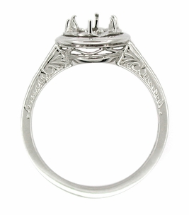 Art Deco 1/2 Carat Platinum Engagement Ring Setting - Click to enlarge