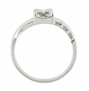 Vintage Retro Moderne Diamond Ring in 14 Karat White Gold - Click to enlarge