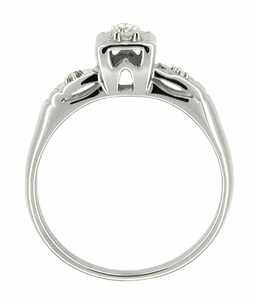 14 Karat White Gold Retro Moderne Antique Diamond Engagement Ring - Click to enlarge