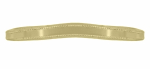 Millgrain Edge Curved Wedding Band in 14 Karat Yellow Gold - Item WR158YND - Image 3