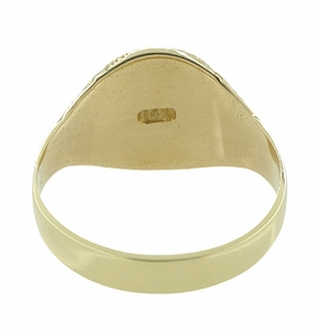 Antique Victorian Signet Ring in 14 Karat Gold - Click to enlarge