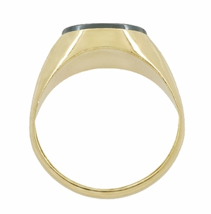 Vintage Hematite Intaglio Ring in 14 Karat Yellow Gold - Item R974 - Image 2