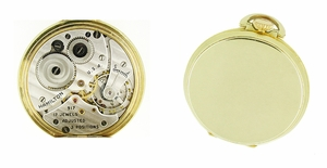 Hamilton Open Face Gold Filled Pocket Watch - 10 Size - Click to enlarge