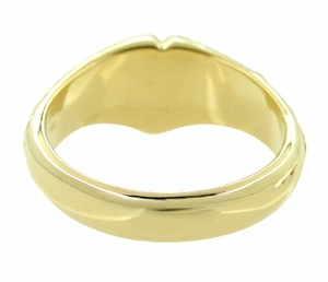 Victorian Heart Shape Scrolls and Flowers Signet Ring in 14 Karat Yellow Gold For a Man - Item R659 - Image 3
