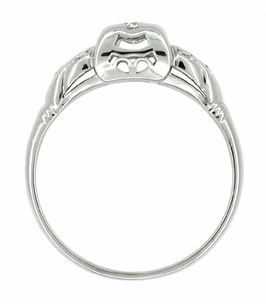 Art Deco Diamond Antique Filigree Engagement Ring in 14 Karat White Gold - Click to enlarge