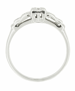 Mid Century Diamond Estate Engagement Ring in 14 Karat White Gold - Item R390 - Image 1