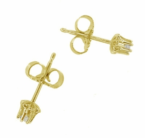 Buttercup Diamond Stud Earrings in 14 Karat Yellow Gold - Item E108 - Image 1