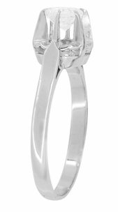 Retro Moderne Buttercup Vintage Diamond Engagement Ring in Platinum - Item R1046 - Image 1