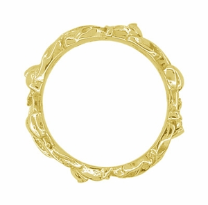 Filigree Lilies Wedding Band in 14 Karat Yellow Gold - Click to enlarge