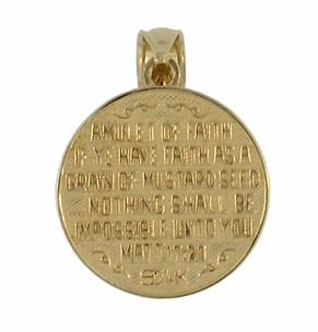 Matthew 17:20 Moveable Mustard Seed Charm in 14 Karat Yellow Gold - Click to enlarge