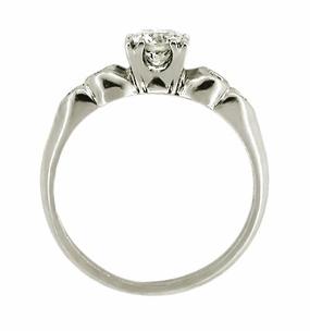 Retro Moderne Diamond Set Platinum Engagement Ring - Item R200 - Image 1