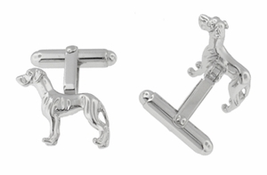 Pointer Cufflinks in Sterling Silver - Click to enlarge