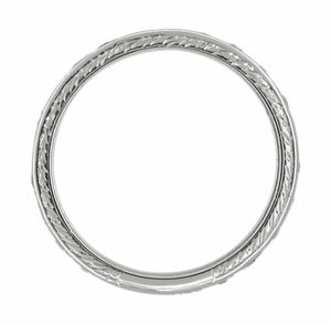 Art Deco Diamond Straightline Antique Wedding Band in Platinum - Size 9 1/4 - Click to enlarge