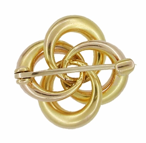 Antique Victorian Algerian Love Knot Brooch in 10 Karat Gold - Click to enlarge