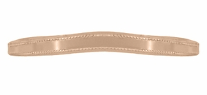 Millgrain Edge Curved Wedding Band in 14 Karat Rose ( Pink ) Gold - Click to enlarge