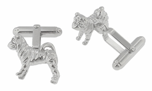 Shar-Pei ( Sharpei ) Cufflinks in Sterling Silver  - Item SCL202 - Image 1
