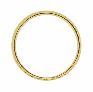 Mid Century Retro Starbursts Engraved Wedding Band in 14 Karat Yellow Gold - Click to enlarge
