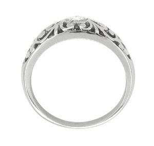 Filigree Diamond Ring in Platinum - Click to enlarge