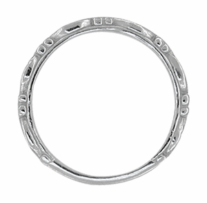 Art Deco Scrolls Wedding Band in 14 Karat White Gold - Click to enlarge