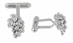 Wine Grapes Cufflinks in Sterling Silver - Click to enlarge