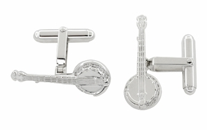 Dueling Banjo Cufflinks in Sterling Silver - Click to enlarge