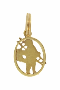 Vintage Chimney Sweep Charm in 14 Karat Yellow Gold - Click to enlarge