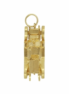 Moveable Antique Car Charm in 14 Karat Yellow Gold - Click to enlarge