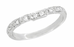 Art Deco Diamond Wedding Ring in Platinum
