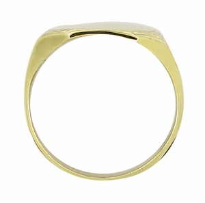 Mens Victorian Rectangular Sunburst Engraved Signet Ring in 14 Karat Yellow Gold - Item R882 - Image 2