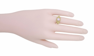 Opal Filigree Ring in 14 Karat Yellow Gold - Item R137Yo - Image 4