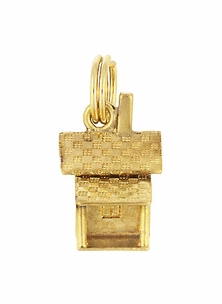 Vintage Cabin Charm in 14 Karat Yellow Gold - Item C613 - Image 1