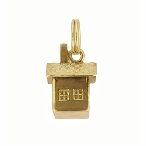 Vintage Cabin Charm in 14 Karat Yellow Gold - Item C613 - Image 2