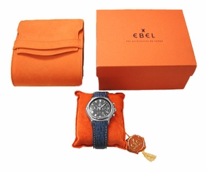 Ebel 1911 Automatic Chronograph with Leather Strap - Click to enlarge