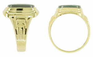 Man's Hematite Intaglio Ring in 10 Karat Gold - Item MR120 - Image 1