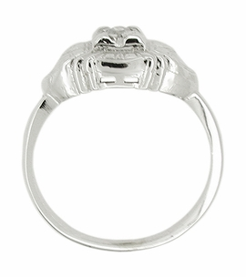 Art Deco Diamond Ring in 14 Karat White Gold - Click to enlarge