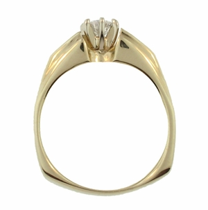 Estate Diamond Engagement Ring in 14 Karat Yellow Gold  - Click to enlarge