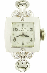 Lady Hamilton Watch in 14K White Gold - Item LW109 - Image 1