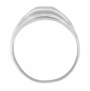Men's Diamond Retro Moderne Ring in 14 Karat White Gold - Click to enlarge