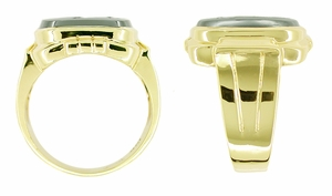 Men's Hematite Intaglio Ring in 10 Karat Gold - Click to enlarge