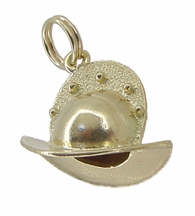 Conquistador Helmet Charm in 14 Karat Gold - Click to enlarge