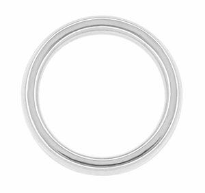 "Women's 3 mm Heavy ""Comfortable Fit"" Wedding Band in 14 Karat White Gold - Size 4 - Click to enlarge"