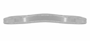 Millgrain Edge Curved Wedding Band in 18 Karat White Gold - Item WR158W18ND - Image 3