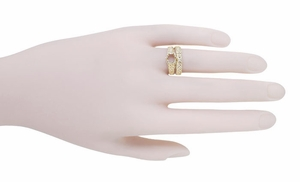 Filigree Flowing  Scrolls Engagement Ring Setting for a 3/4 Carat Diamond in 14 Karat Yellow Gold - Item R1196Y - Image 8
