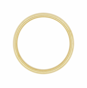 Tiffany & Co Lucida Wedding Band 3mm 18K Yellow Gold Ring Size 6, Vintage Pre Owned Authentic Tiffany Ring - Click to enlarge