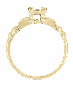 Mid Century 1/3 Carat Engagement Ring Setting in 14 Karat Yellow Gold - Click to enlarge